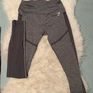 Gymshark leggings with mesh detail